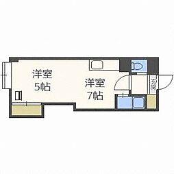 サンコート西麻生[4階]の間取り