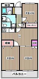 レジデンス永山[305号室]の間取り