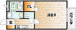プロムナード門樋B[2階]の間取り