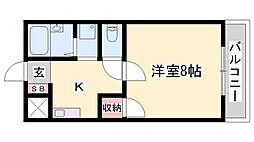 JR東海道・山陽本線 姫路駅 バス20分 東洋大姫路高前停下車 徒歩2分の賃貸アパート 2階1Kの間取り