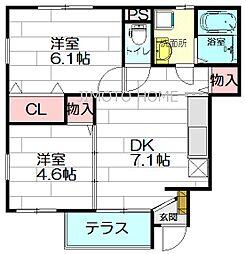 CREA豊南町[1階]の間取り