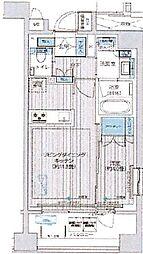 東京メトロ日比谷線 築地駅 徒歩6分の賃貸マンション 7階1LDKの間取り