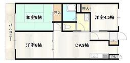 広島県広島市西区井口2丁目の賃貸アパートの間取り