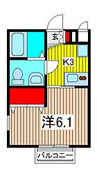 埼玉県さいたま市南区別所7丁目の賃貸アパートの間取り
