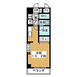 ノヴェル新栄[3階]の間取り