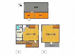 JR加古川線 社町駅 バス46分 黒谷下車 4.1km 1SLDKの間取り