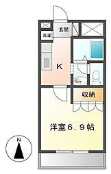 エクシードⅡ 29-1651[203号室]の間取り