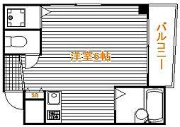 東京都文京区千石2丁目の賃貸マンションの間取り