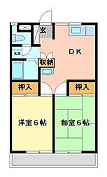 桜沢ハイツ2[2階]の間取り
