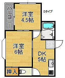 ロイヤル西加賀屋[5階]の間取り