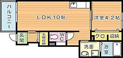 サニープレイス大平[1階]の間取り