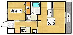 ユニヴァリィ サンシャイン[1階]の間取り