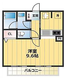 イーグルコート[2階]の間取り