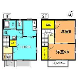 [テラスハウス] 神奈川県平塚市御殿3丁目 の賃貸【/】の間取り