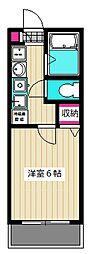 東京都大田区萩中2丁目の賃貸アパートの間取り