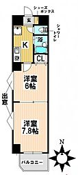 愛知県名古屋市瑞穂区洲雲町3丁目の賃貸マンションの間取り