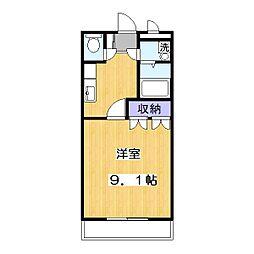 メゾンボヌールC[3階]の間取り