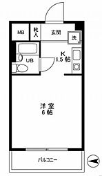 ルーブル江古田[1階]の間取り