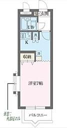 東京都新宿区若松町の賃貸マンションの間取り