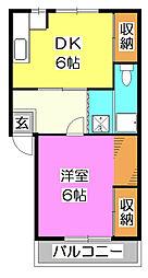 秋津マンション山岸[2階]の間取り