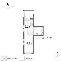 新築 荘[202号室号室]の間取り