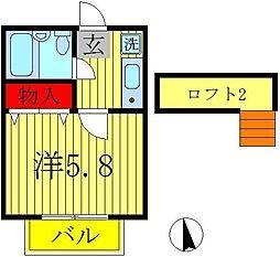 ジュネパレス松戸第43[1階]の間取り