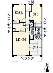 ピアネーズ神ノ倉A棟[1階]の間取り