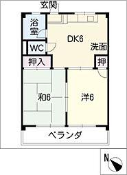 青山パークマンション[1階]の間取り