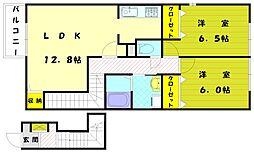 クレールファミーユ[1階]の間取り