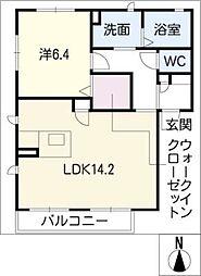 シャーメゾンU[1階]の間取り