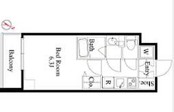 京王線 笹塚駅 徒歩4分の賃貸マンション 6階1Kの間取り