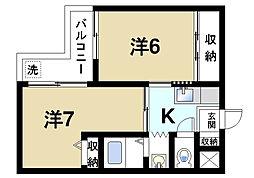 シティスイート西大寺P-3[3階]の間取り