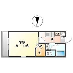 マストライフ川崎平間A棟 3階1Kの間取り
