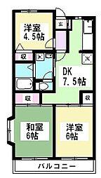 ミノルマンション[304号室]の間取り