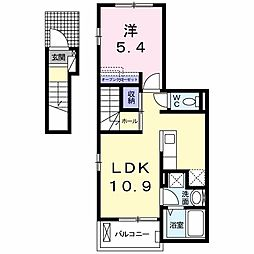 東京都練馬区錦2丁目の賃貸アパートの間取り