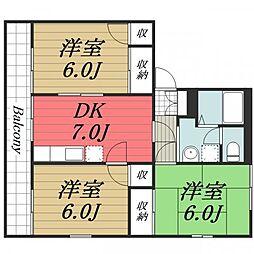 大崎台グリーンタウン6 A[2階]の間取り
