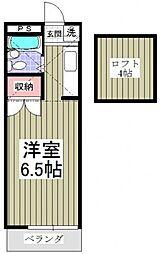 神奈川県厚木市緑ケ丘5丁目の賃貸アパートの間取り