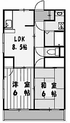 PH(パークハマ)[1階]の間取り