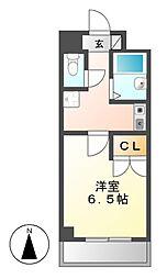 愛知県名古屋市千種区北千種2丁目の賃貸マンションの間取り