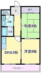 エヴァーマンション[2階]の間取り