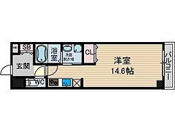山崎マンション13[6階]の間取り