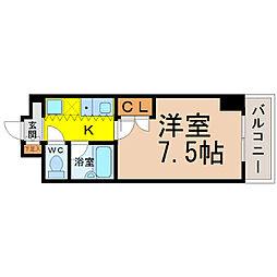 愛知県名古屋市昭和区御器所通2の賃貸マンションの間取り