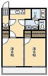 フォーブル祇園[101号室]の間取り
