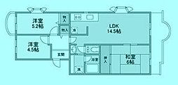 ミルフィーユ宮前平[3階]の間取り