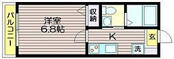 東京都世田谷区粕谷4の賃貸アパートの間取り