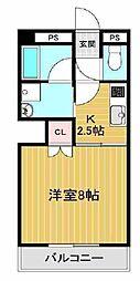 JR山陽本線 明石駅 バス16分 神姫バス吉田下車 徒歩6分の賃貸マンション 3階1Kの間取り