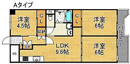 サンコーポラス南港27号棟[6階]の間取り
