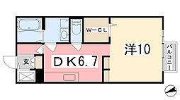 ドミール・K[203号室]の間取り