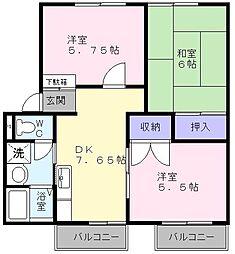 メゾンT&M[1階]の間取り