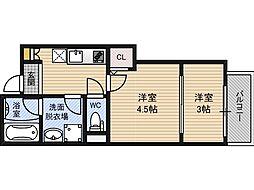 Gradito神崎川[2階]の間取り